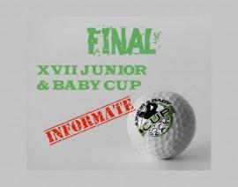 INFORMACION FINAL XVII JUNIOR & BABY CUP